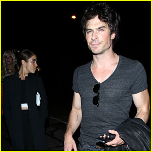Ian Somerhalder & Nikki Reed Grab Dinner After the Young Hollywood Awards!
