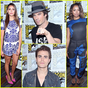 Ian Somerhalder & Nina Dobrev Make a Stop at Comic-Con for 'The Vampire Diaries' Panel!