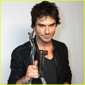 Ian Somerhalder: 'The Vampire Diaries' Wins Best Threesome at Young Hollywood Awards 2014!