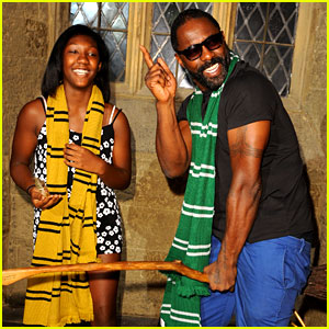 Luther's Idris Elba Goofs Around On a 'Harry Potter' Broomstick