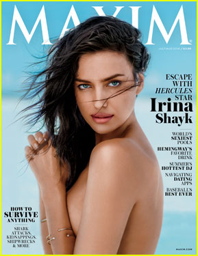 Irina Shayk Goes Topless Sexy For 'Maxim' July/August 2014 Cover!