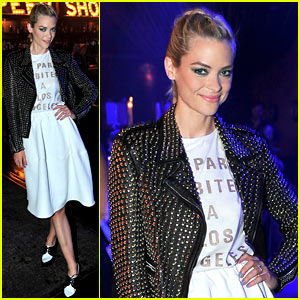 Jaime King Pops in Punk Outfit for Urban Decay's Peep Show