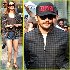 James Franco & Leighton Meester Greet Fans After Final Performance on Broadway!