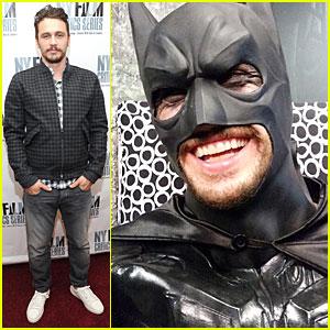 James Franco Looks So Happy to Wear Batman Costume
