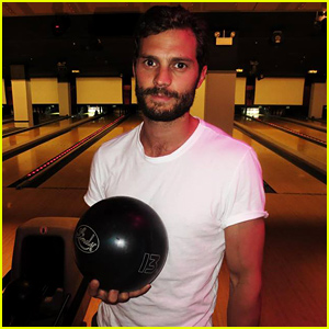 Jamie Dornan Got In Some Bowling While In NYC for 'Fifty Shades of Grey' Trailer Promo!
