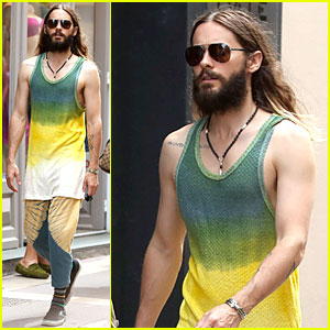 Jared Leto Takes the Path Less Traveled With Tie-Dye Shirt