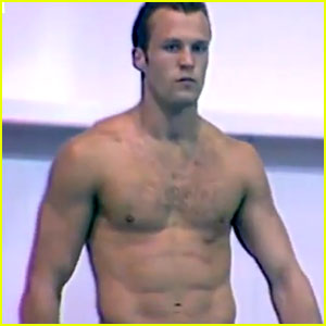 Shirtless Jason Statham Dives Competitively in New Vintage Video - Watch Now!
