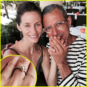 Jeff Goldblum, 61, Engaged to Girlfriend Emilie Livingston, 31 - See Her Engagement Ring & Proposal Pics!