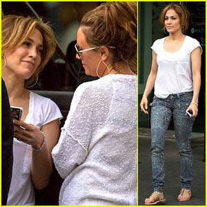 Jennifer Lopez Serves Shotski to BFF Leah Remini - Watch Now!