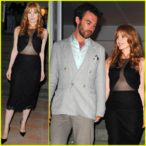 Jessica Chastain & Boyfriend Gian Luca Passi De Preposulo Are Stylish Duo for Ischia Awards Ceremony!