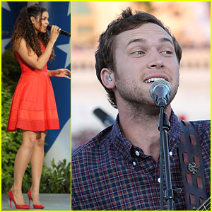 Jordin Sparks & Phillip Phillips Perform Live at Capitol Fourth 2014!