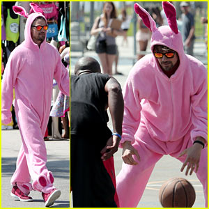 Josh Duhamel Dresses in a Large Pink Bunny Costume for Charity - See the Pics!
