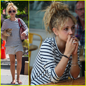 Juno Temple Grabs Lunch with Her Mom in NYC After New 'Horns' Poster Released