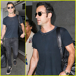 Justin Theroux Jets to L.A. Before New 'Leftovers' Episode Airs