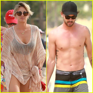 Kaley Cuoco Covers Her Bikini Body with a Sheer Wrap in Cabo!
