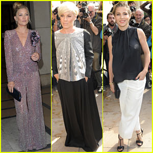 Kate Hudson & Pink Are Perfectly Glamorous at Armani Prive Paris Fashion Show!