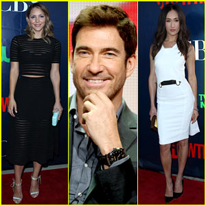 Katharine McPhee & Maggie Q Support Their New CBS Shows at the TCA Press Tour!
