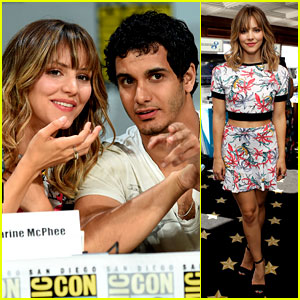 Katharine McPhee Goes Tropical in a Crop Top at Comic-Con