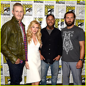 Katheryn Winnick & Travis Fimmel Bring 'Vikings' Season 3 Teaser Trailer to Comic-Con - Watch Now!