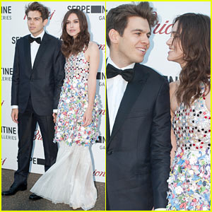 Keira Knightley & James Righton Share Adorable Moment at Serpentine Gallery Party