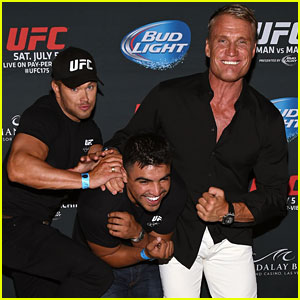 Kellan Lutz & Dolph Lundgren Show Support for Their 'The Expendables 3' Co-Star at UFC 175!