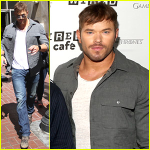 Kellan Lutz Takes 'Expendables 3' to Comic Con 2014 with Wesley Snipes & Dolph Lundgren