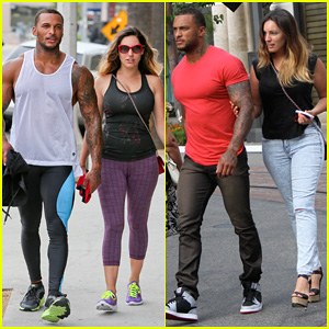 Kelly Brook & Fiance David McIntosh Catch 'Dawn of the Planet of the Apes' at The Grove!