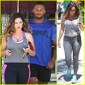 Kelly Brook & David McIntosh's Bodies Are Definitely Reaping Benefits From Countless Gym Workouts!