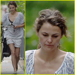 Keri Russell Takes a Solo Bike Ride on the Fourth of July