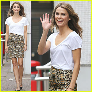Keri Russell Brings Her Toned Legs to Promote 'Dawn of the Planet of the Apes' in London