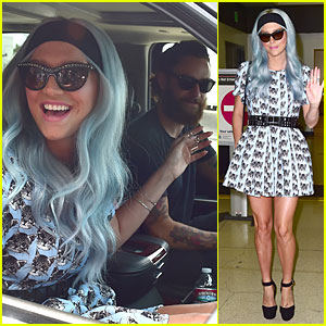 Kesha Gets Picked Up By Boyfriend Brad Ashenfelter at LAX Airport