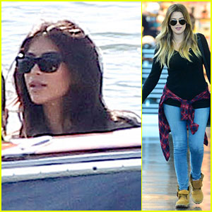 Kim & Kourtney Kardashian Take a Boat Trip While Khloe Heads to NYC!