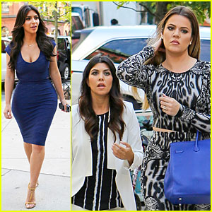 Kim, Kourtney, & Khloe Kardashian Dress to Impress at Babies 'R' Us Shower!