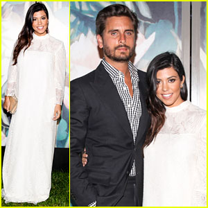 Pregnant Kourtney Kardashian's Baby Bump is Out of Sight at Baby Buggy Dinner