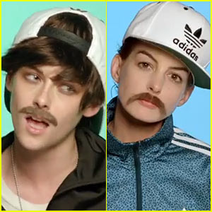 Kristen Stewart & Anne Hathaway Dress in Drag for Jenny Lewis' 'Just One of the Guys' Music Video - Watch Now!