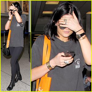 Kylie Jenner Praises Her Friends While Arriving Back in L.A.