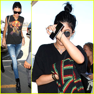 Kendall & Kylie Jenner Get Swarmed By Paps Ahead of Flight to Dallas
