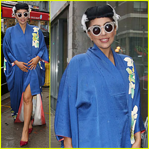Lady Gaga Shows Appreciation For Japanese Culture By Wearing Kimono