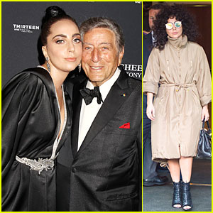 Lady Gaga & Tony Bennett Standing 'Cheek to Cheek' at Album Premiere