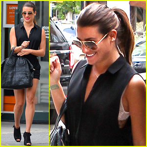 Lea Michele Flashes Her Lacy White Bra While Shopping with Mom Edith!