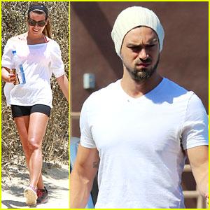 Lea Michele Goes Hiking, Boyfriend Matthew Paetz Uses Her Car