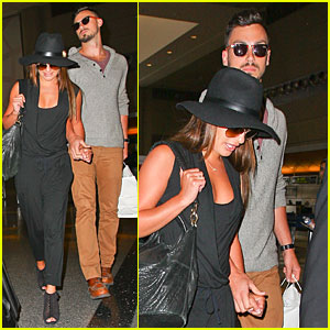 Lea Michele & New Boyfriend Matthew Paetz Aren't Afraid to Hold Hands at LAX
