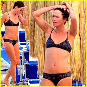Game of Thrones' Lena Headey Puts Her Amazing Bikini Body on Display in Ischia!