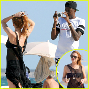 Lindsay Lohan Poses for a Mini Bikini Photo Shoot in Ibiza!