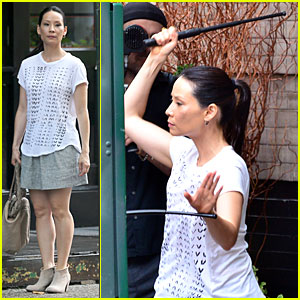 Lucy Liu Still Manages to Look Stylish While Fighting For 'Elementary'!
