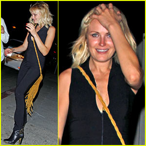 Malin Akerman Wears Skin Tight Jumpsuit for Night Out Clubbing