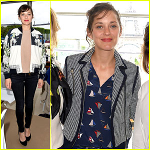 Marion Cotillard Continues Supporting Her Horse Jumping Man!