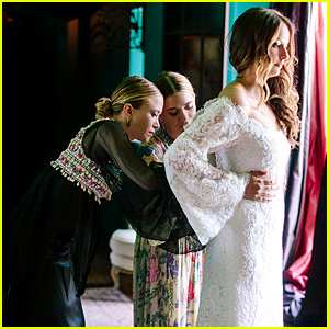 Mary-Kate & Ashley Olsen Designed Gorgeous Wedding Gown for Friend Molly Fishkin - See it Here!