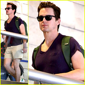 Matt Bomer Wears Short Shorts at the Airport!
