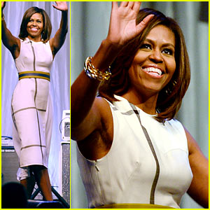 Michelle Obama Pushes for Arts in School at Grammy Luncheon